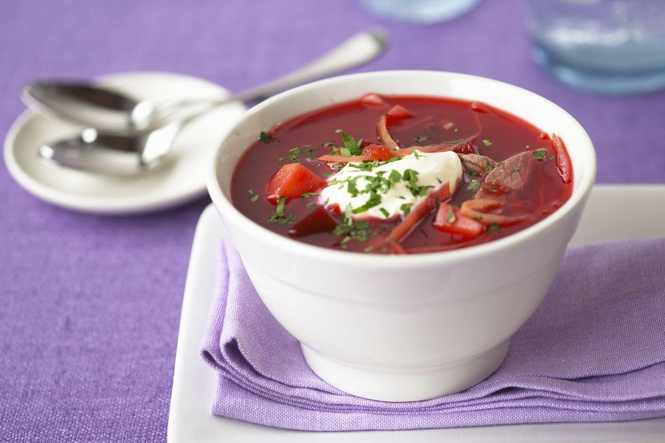 Zuppa di Barbabietola rossa e Cavolo