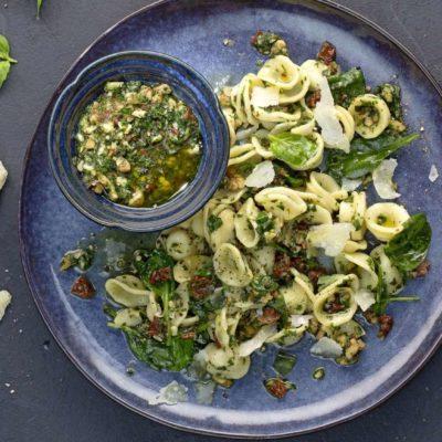Orecchiette con Pesto di Cime di Rapa cenaunavoltablog