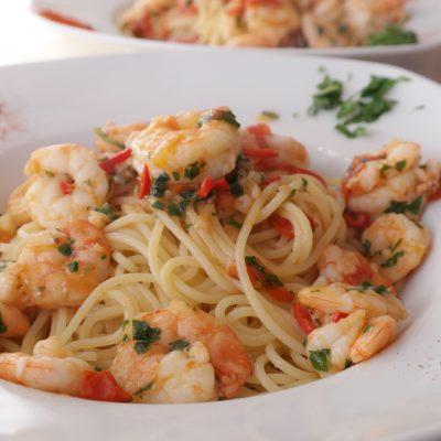 spaghetti gamberi e bottarga cenaunavoltablog